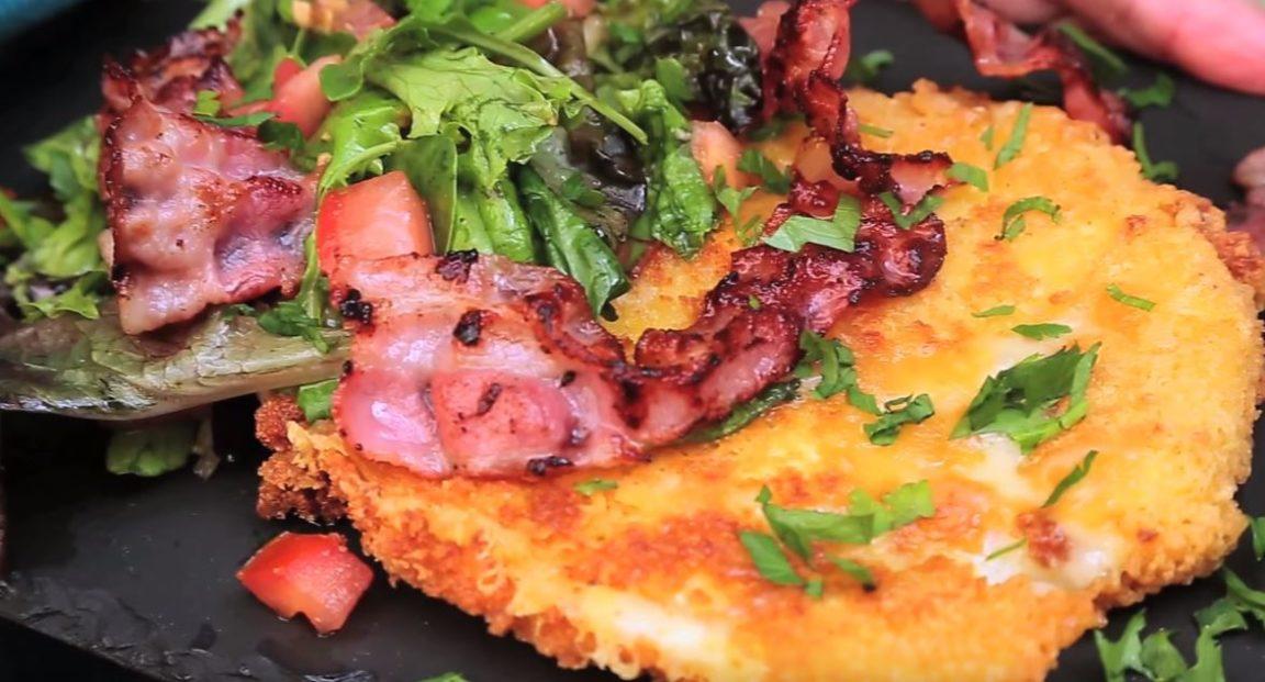 croustillant de camembert et bacon