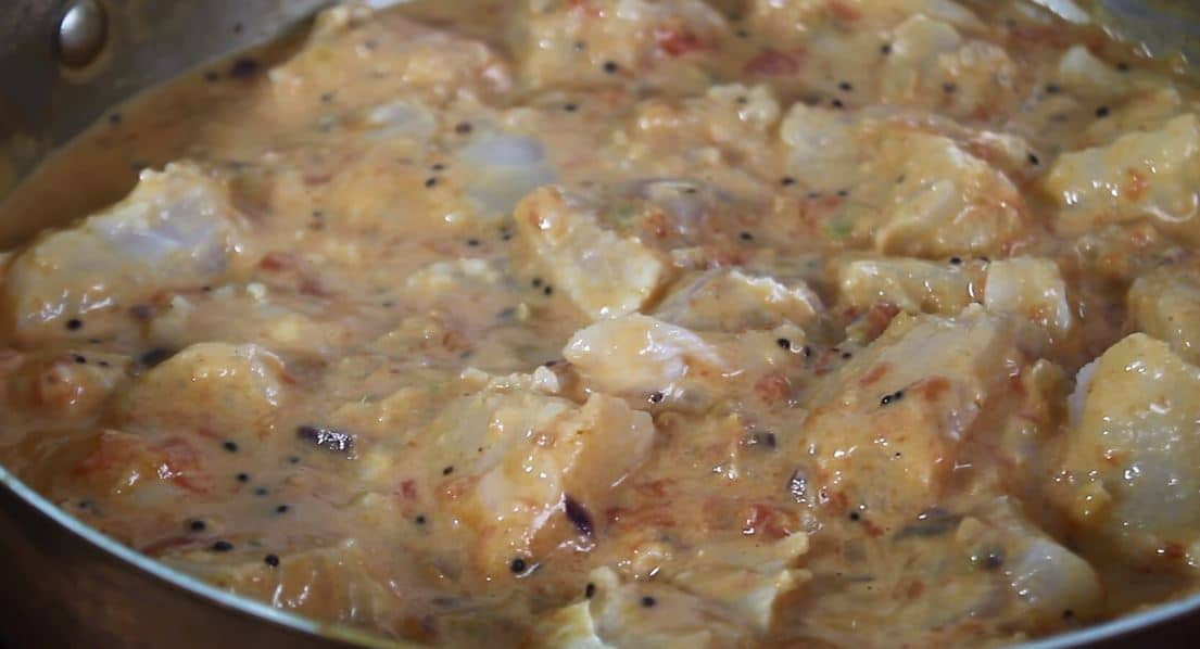 curry de poisson blanc au lait de coco