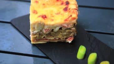 lasagnes aux poireaux et saumon