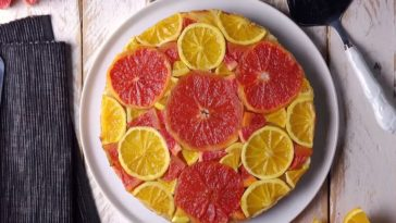 tarte tatin orange-pamplemousse