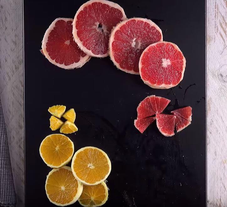 tarte tatin orange-pamplemousse