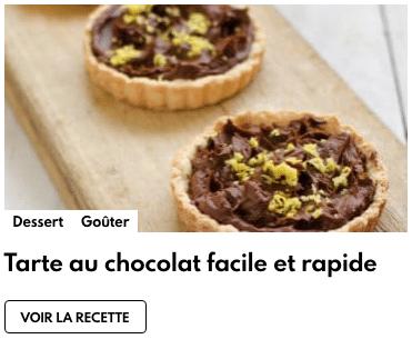 Tarte au chocolat facile et rapide