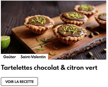 tartelettes chocolat et citron vert