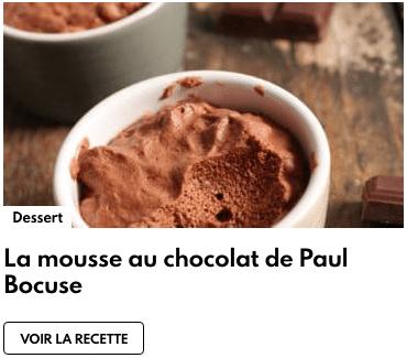 mousse chocolat paul bocuse
