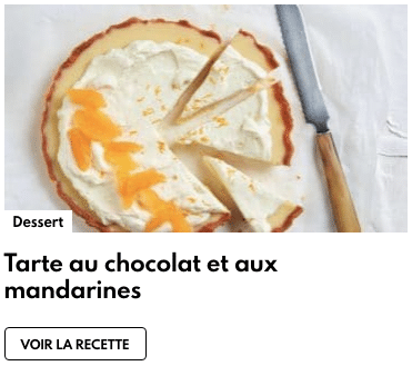 tarte chocolat blanc mandarines