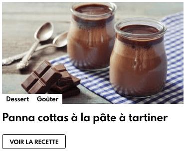 Panna cottas pâte à tartiner