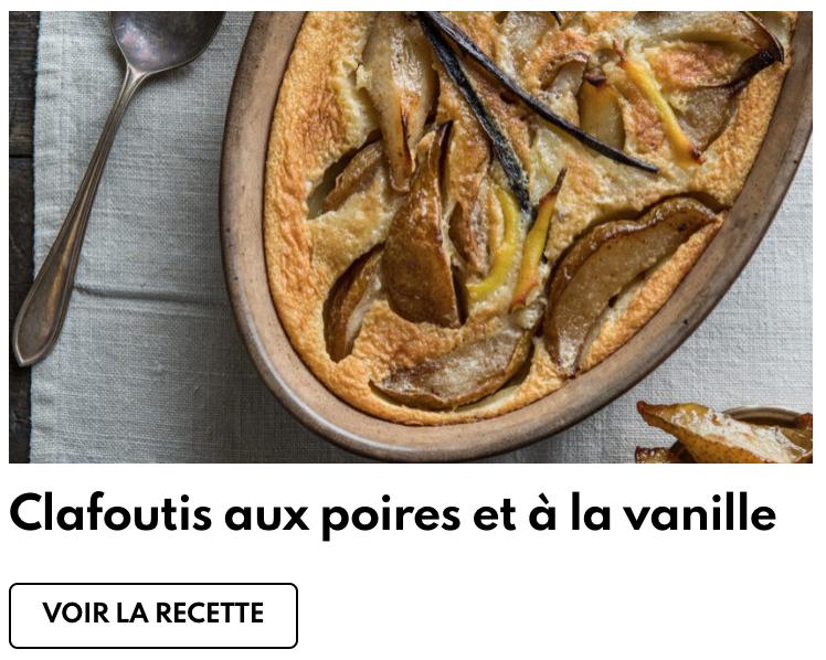 Clafoutis poires vanille