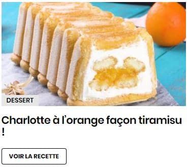 charlotte à l'orange facon tiramisu