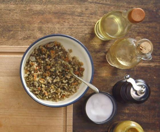 salade de lentilles, mangue et avocat