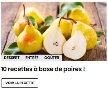 10 recettes à base de poires