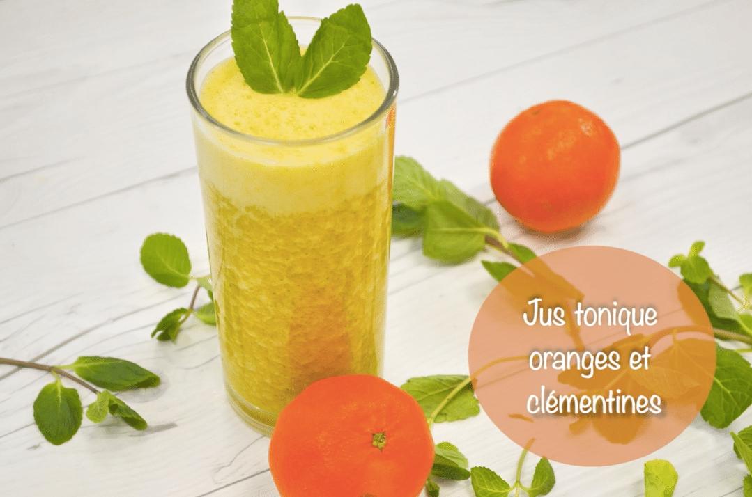 Jus tonique oranges & clémentines
