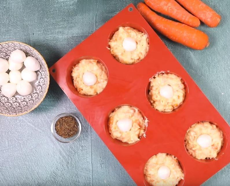 cakes moelleux à la carotte et mozzarella