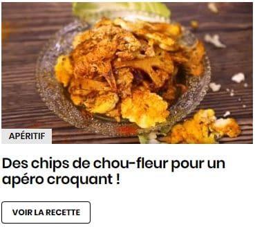 chips chou fleur