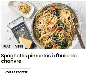 spaghettis ç l'huile de chanvre