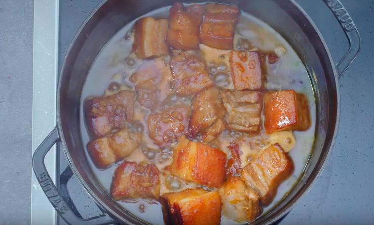 Poitrine de porc à l'orange