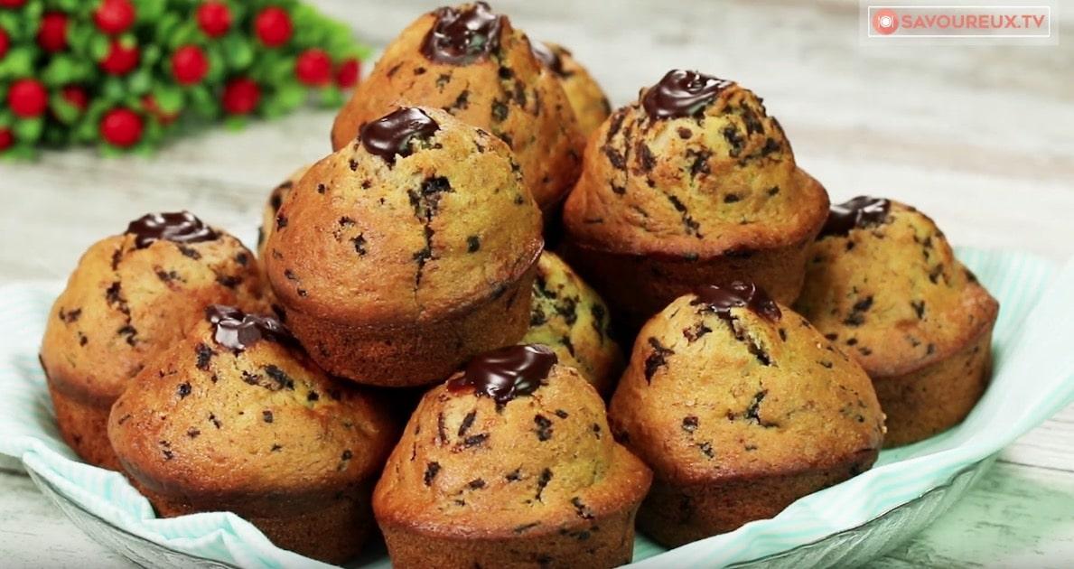 Muffins banane chocolat