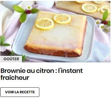 brownie au citron