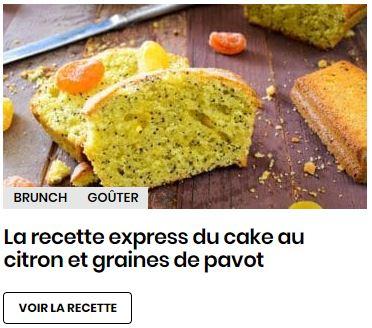 cake citron et pavots