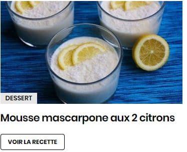 mousse mascarpone aux 2 citrons