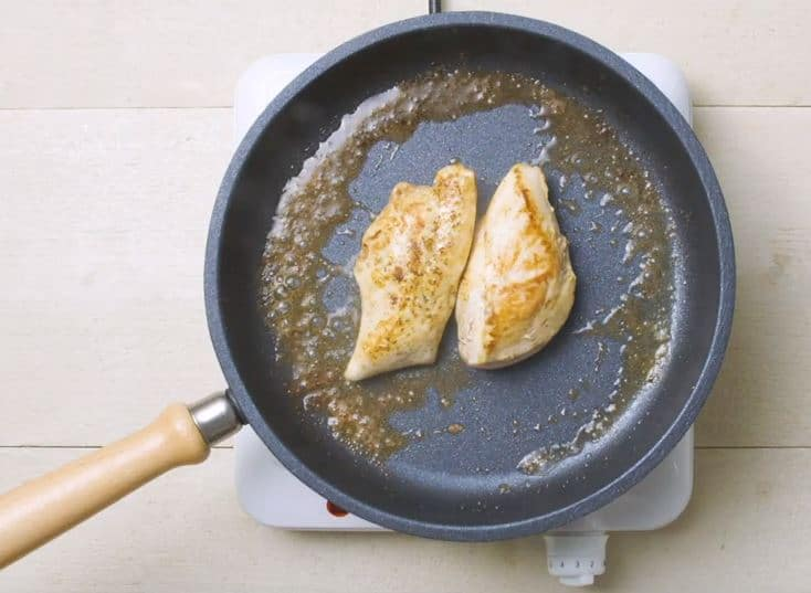 penne au poulet et sauce au vin blanc