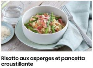 risotto d'asperges et pancetta croustillante