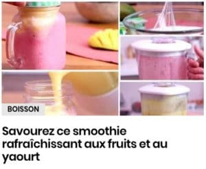 smoothie au yaourt