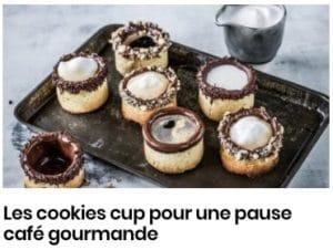 Cookie cup pour une pause café gourmande