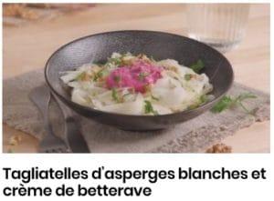 tagliatelles d'asperge blanche