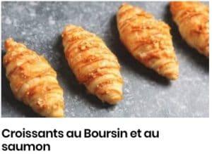 croissants boursin et saumon