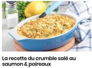 crumble saumon et poireaux