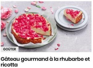 gâteau rhubarbe et ricotta