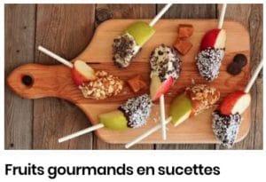 fruits en sucette