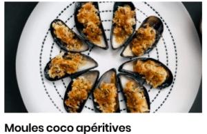 Moules coco apéritives