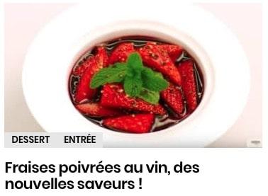 fraises poivrées au vin