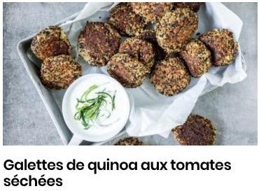 galettes de quinoa aux tomates sechées