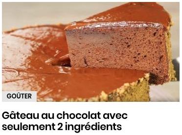 Gâteau chocolat avec 2 ingrédients