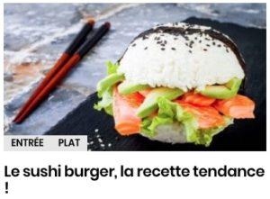 Le sushi burger, la recette tendance !