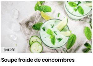 Soupe froide de concombres