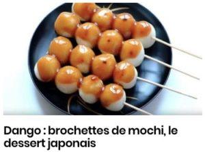 Dango : brochettes de mochi, le dessert japonais