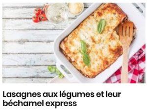 Lasagnes aux légumes et leur béchamel express