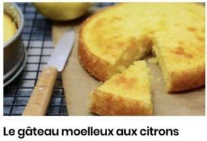 Le gâteau moelleux aux citrons