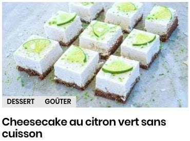 cheeseake citron vert
