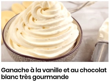 Ganache à la vanille et au chocolat blanc très gourmande