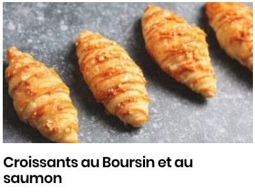 Croissants au Boursin et au saumon
