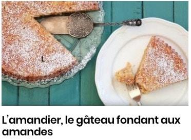 L'amandier, le gâteau fondant aux amandes