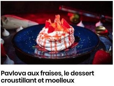 Pavlova aux fraises, le dessert croustillant et moelleux
