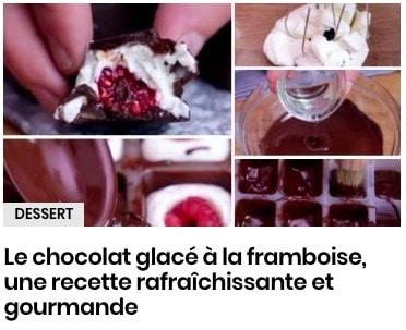 Le chocolat glacé à la framboise, une recette rafraîchissante et gourmande