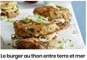 Le burger au thon entre terre et mer