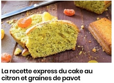 La recette express du cake au citron et graines de pavot