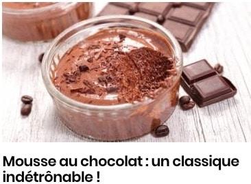 Mousse au chocolat : un classique indétrônable !
